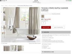 Pottery barn shower curtain!