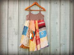 SmMed  Recycled Sari Patchwork Dress// Empire Waist by emmevielle, $73.00