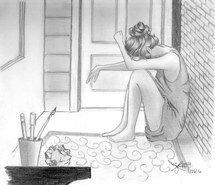 Inspiring image crying girl, lonely girl, pencil sketch, sad girl, girl drawing by anjotjots - Resolution - Find the image to your taste Crying Girl Drawing, Cry Drawing, Woman Drawing, Sketch Drawing, Sketching, Sad Sketches, Sad Drawings, Doodle Drawings, Woman Sketch