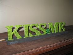 glittered chip board letters