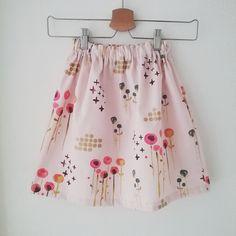 Mädchenrock aus organic cotton, selbstgenäht, Stoffe von Mai-Lu www.mai-lu.de Mai, Ballet Skirt, Summer Dresses, Skirts, Fashion, Rock Girls, Fabrics, Moda, Skirt
