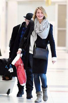 Cameron Diaz wearing Isabel Marant Jenny Boots