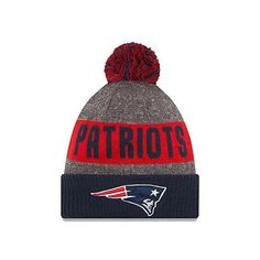 3257660a239fb New Era Men s New England Patriots NFL Football Sideline Sport Knit Hat  Heather  NewEra