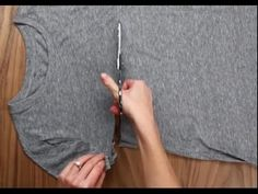 YouTube Cut Tee Shirts, Easy, Polymers, Sewing, Handmade, Crafts, Youtube, Fashion, Old Shirts