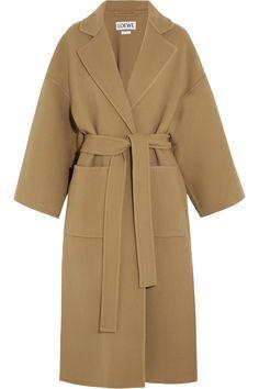 Loewe | Belted wool and cashmere-blend coat | пальто бежевое, кашемировое пальто, модели кашемировых пальто, красивое пальто, женское пальто на осень, женское пальто длинное, пальто-халат, Можно сшить индивидуально, по вашим меркам, в интернет-ателье Namaha3d. www.livemaster.ru/namaha WhatsApp +380983457224