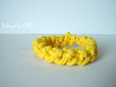 Yellow Knit Bracelet beach bracelet jersey by ButtonsandYarnOhMy