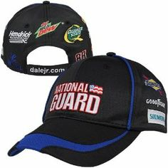 NASCAR Dale Earnhardt Jr. Official Replica Uniform Hat - Black by Football Fanatics. $27.95. Quality embroidery. Screen print graphics. Hook and loop fastener closure. Structured. Curved bill. Dale Earnhardt Jr. Official Replica Uniform Hat - BlackCurved billScreen print graphicsContrast color underbillImportedQuality embroidery70% Cotton/30% PolyesterHook and loop fastener closureOfficially licensed NASCAR productStructured70% Cotton/30% PolyesterQuality embroiderySc...