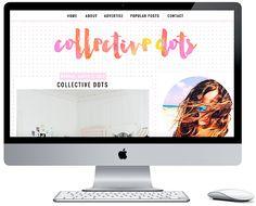"Pre-made Blogger Templates // ""Collecitive Dots"" // Social and Chic // Blog + Graphic Designer // Dallas"