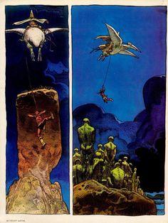 Jean Giraud, May 1938 – 10 March better known as Moebiu was a French comics artist. Jean Giraud, Moebius Comics, Moebius Art, Stan Lee, Statues, Bd Comics, Science Fiction Art, Comic Artist, Oeuvre D'art