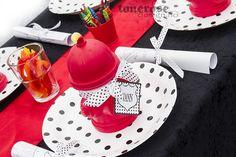 Fireman party table setting =) Bordekking barnebursdag! Brannmann