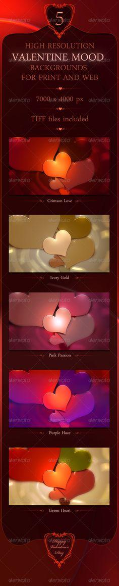 Valentine Mood Backgrounds -  GraphicRiver Item for Sale