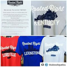 @bluboutiquelou - nice Kentucky and USA selection in their wonderful locally owned boutique in Louisville!! Shop small!  Give a Rooted Right t-shirt to some special people in your life this month! #wp