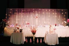 Busy in pink Fairy Lights, Centre, Table Decorations, Bride, Pretty, Pink, Inspiration, Home Decor, Style