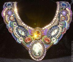 "Buy beaded necklace ""Treasure of the sea"" - Handmade Jewelry, beads Japanese, Beading"
