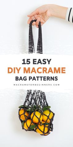 Did you know it's super easy to make your own gorgeous Macrame bag? Luckily, it only takes a few basic knots to get started. Here are 15 easy to follow Macrame DIY tutorials and patterns to inspire your next Macrame fashion project! #macrame #macrameforbeginners #macramebag #fiberart Macrame Purse, Macrame Jewelry, Free Macrame Patterns, Macrame Supplies, Make Your Own, How To Make, Fashion Project, Cute Diys, Plant Hanger