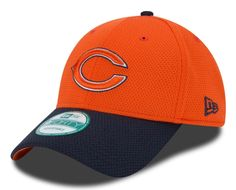 Mens Chicago Bears New Era Navy Blue/Orange Fundamental Tech Adjustable 9FORTY Hat