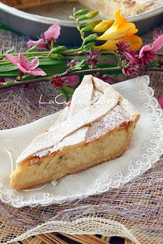 Pastiera...a tradition in my Italian family that I've had every year at Easter! I love my culture! Tradition! (translator)