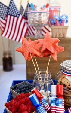 Old Fashioned Fourth of July Party - Make Life Lovely 4th Of July Party, Fourth Of July, Blue Candy Bars, New Fruit, Carbohydrate Diet, Healthy Alternatives, Eating Plans, Popular Recipes, Food Items