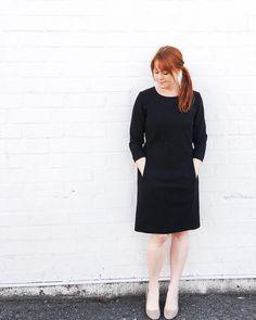 Sew Over It Zoe Dress in black linen