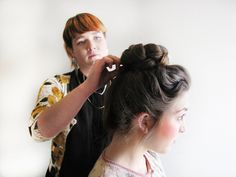 Easy step-by-step tutorial of a Braided Top Bun by Stacia at Sine Qua Non Salons, Chicago #SQNChicago #iamsine