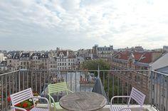 View from the terrace room - Hotel Parc Saint Séverin Paris Saint Michel ©yannmonel Latin Quarter, Paris Saint, Paris Hotels, Once Upon A Time, Terrace, Cathedral, The Neighbourhood, Saints, France