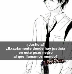 Frases anime, justicia, mundo