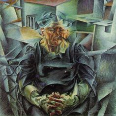 Horizontal Volumes - Umberto Boccioni (Futurism, Cubism in Italy) Italian Painters, Italian Artist, Umberto Boccioni, Italian Futurism, Futurism Art, Art Moderne, Les Oeuvres, Art History, Painting & Drawing