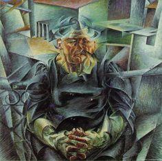 Umberto Boccioni, Volumi orizzontali (La Madre), 1911