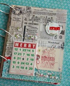 me & my scraps: December Daily 2011 {cover, day 1 & 2}