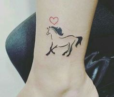 Little Tattoos, Cute Tattoos, Body Art Tattoos, Hand Tattoos, Small Tattoos, Small Horse Tattoo, Horse Tattoo Design, Cowgirl Tattoos, Western Tattoos