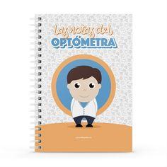 Cuaderno XL - Las notas del optómetra, encuentra este producto en nuestra tienda online y personalízalo con un nombre. Notebook, Cover, Dietitian, Notebooks, Report Cards, Day Planners, The Notebook, Exercise Book
