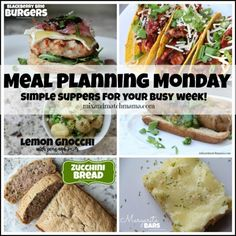 Meal Planning Monday #181