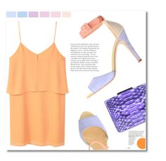 """Lilac orange"" by starlight667 ❤ liked on Polyvore featuring MANGO, Twin-Set and Yazi"