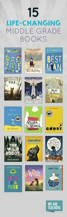 15 Life-Changing Middle Grade Books 15 Life-Changing Middle Grade Books Great story life lesson = 15 middle grade books worth checking out! The post 15 Life-Changing Middle Grade Books appeared first on School Ideas. Kids Reading, Teaching Reading, Reading Lists, 8th Grade Reading List, Kids Writing, Teaching Art, Kids In The Middle, Good Books, My Books
