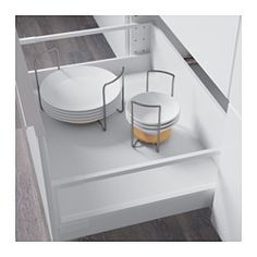 IKEA - VARIERA, Plate holder, The plate holder is adjustable, so you can customize the width based on the size of your plates.Can be placed in a deep drawer, on a shelf, or be put directly on the table.