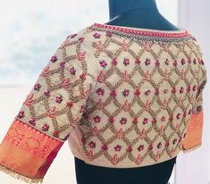 Embroidery # # # # - New Beautify Wedding Saree Blouse Designs, Pattu Saree Blouse Designs, Stylish Blouse Design, Fancy Blouse Designs, Blouse Neck Designs, Dress Designs, Maggam Work Designs, Designer Blouse Patterns, Work Blouse