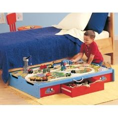 Thomas & Friends Wooden Railway - Under-the-Bed Trundle Playtable -Need to find someone to DIY this for me!