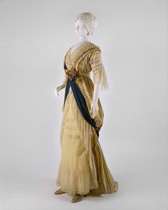 Dress, House of Drécoll, silk, French 1912