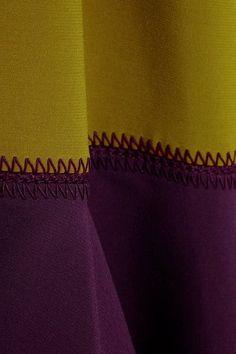 Roksanda - Ambreen Paneled Stretch-cady Midi Dress - Navy - UK