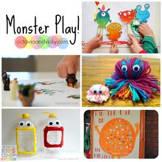 Monster Play Ideas! Have fun pretending, creating and learning with these monster ways to play.