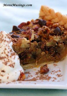 Menu Musings of a Modern American Mom: Double Chocolate Pecan Pie