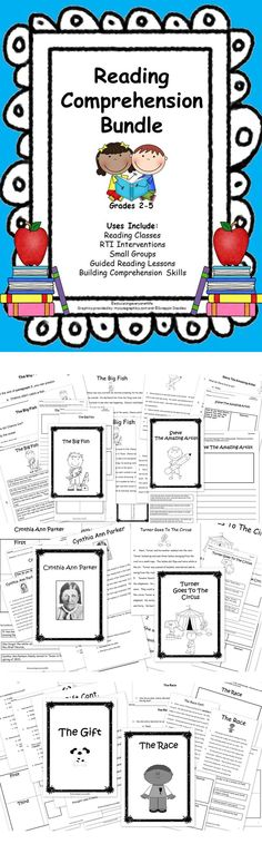 Reading Comprehension Bundle Includes: Assessments, Sequencing Activities, Summary Activities, and Writing Activities