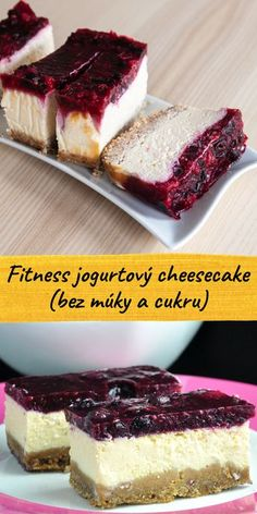 Healthy Cake, Healthy Desserts, Fun Desserts, Sugar Free Recipes, Sweet Recipes, Desserts Sains, Gluten Free Cheesecake, Protein Powder Recipes, Czech Recipes