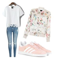 Casual Look by friedrich-svenja on Polyvore featuring polyvore, fashion, style, New Look, H&M, adidas Originals and clothing