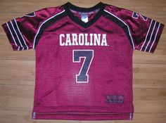 South Carolina Gamecocks #7 Maroon NCAA Football Jersey Baby Toddler Size 4T #ColosseumAthletics #SouthCarolinaGamecocks