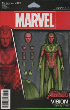 Avengers Vol 6 #1 Cover D Variant John Tyler Christopher Vision Action Figure Cover (Marvel Now Tie-In)
