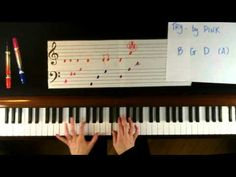 How to Play Try by Pink on Piano - Easy.