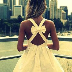 lovely dress, nothing beats a bow! Visit www.fitnessin24.com to slim down into your favorite dress today!