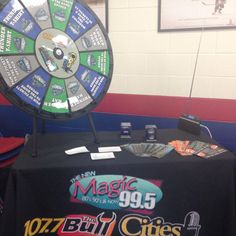 Come out to the Pepsi Ice Center to meet some of your new Bloomington Thunder Hockey players and spin are Thunder wheel for a chance to win tickets, luxury suite nights, Thunder gear and more! We will be here until 3pm. Buy this Prize Wheel at http://PrizeWheel.com/products/tabletop-prize-wheels/table-clicker-prize-wheel-12-24-slot-adaptab/.