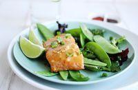 salmon with miso + honey